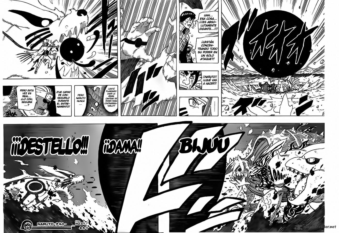 Naruto en modo bijuu
